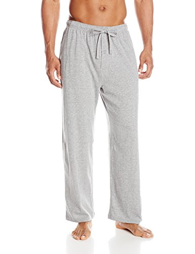 Fruit of the Loom Men's Jersey Knit Sleep Pant, Grey, Large