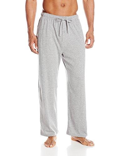 Fruit of the Loom Men's Jersey Knit Sleep Pant, Grey, 3X/Big Cotton Knit Lounge Pants