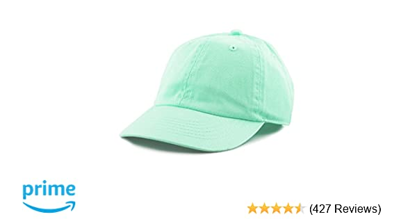 THE HAT DEPOT Kids Washed Low Profile Cotton and Denim Plain Baseball Cap  Hat at Amazon Men s Clothing store  e2bdd9f327bd