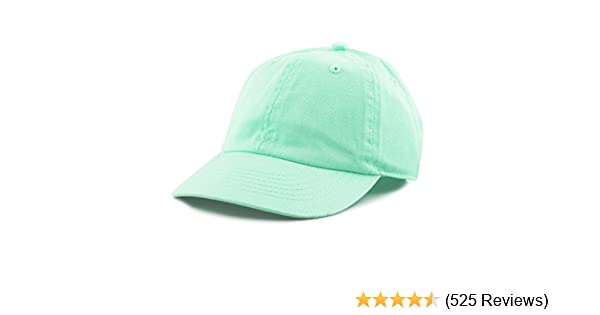 701d853f The Hat Depot Kids Washed Low Profile Cotton and Denim Plain Baseball Cap  Hat at Amazon Men's Clothing store: