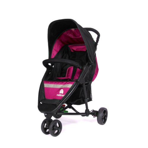 Natineo Vibeo - Silla de paseo con 3 ruedas, color rosa