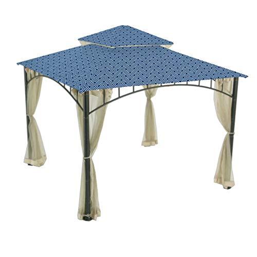 (Garden Winds Replacement Canopy Top Cover for Summer Veranda Gazebo - Midnight Trellis)