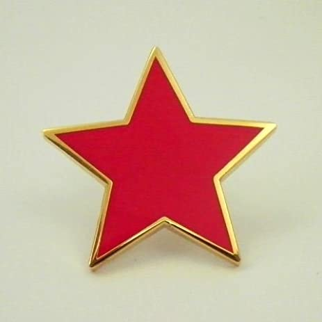 Amazon Plain Red Star Pin Badges Pair Office Products
