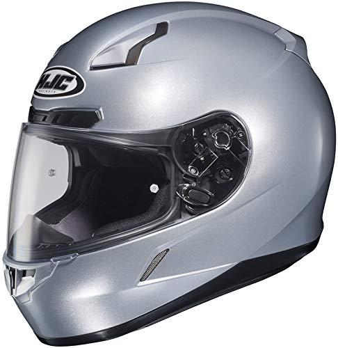 HJC Metallic Mens CL-17 Road Race Motorcycle Helmet - Silver/X-Large