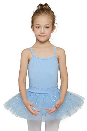 Camisole Tutu Leotard for Kids by MdnMd (8-10Years,Blue)