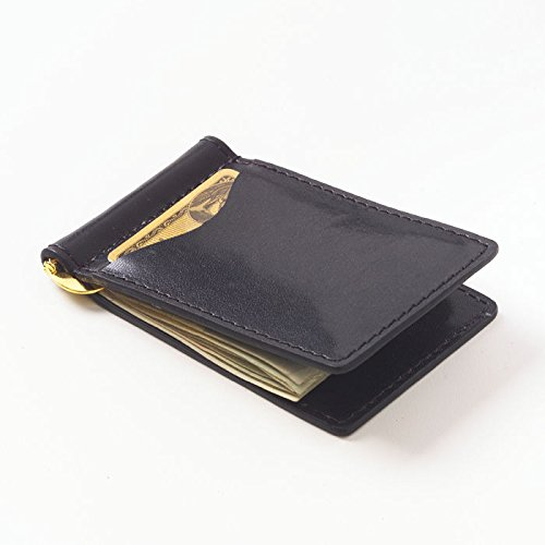 Clava Leather Glazed - Glazed Leather Money Clip Color: Glazed Black