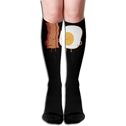 Q78WZI50 Bacon Egg Be Friends Men & Women Knee High Sport Compression Long Sock for Soccer -