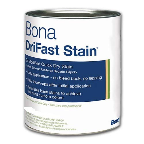 Birch Stain - Bona DriFast Premium Quality Oil-Modified Quick Dry Stain The Natural Collection for Interior Hardwood Floor Birch, QT