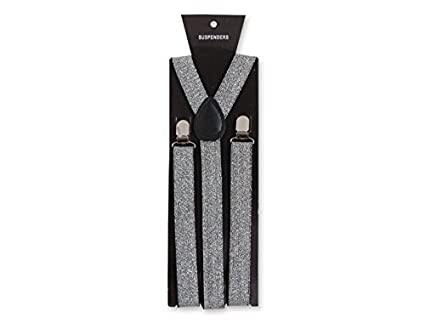 a3018bf4644 Image Unavailable. Image not available for. Color  BUY4STORE.COM Silver Glitter  Suspenders