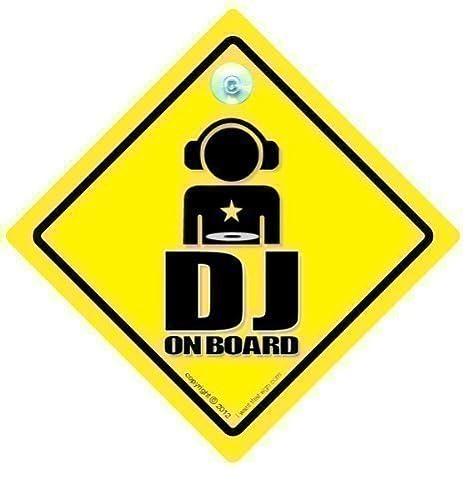 DJ a bordo coche señal, señal de DJ, DJ a bordo señal, señal ...