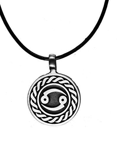 - Exoticdream Astrology Zodiac Horoscope Birth Sign Pewter Pendant (Cancer)