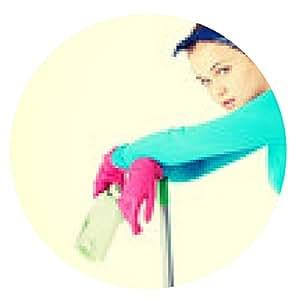 alfombrilla de ratón mujer de la limpieza agotado. - ronda - 20cm
