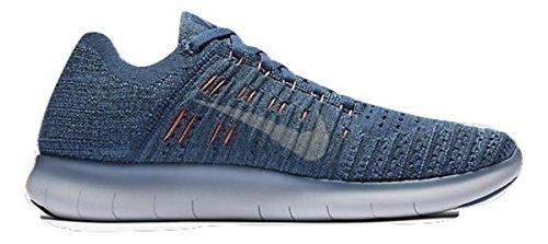 - Nike Women's Free Running Motion Flyknit Shoes, Work Blue/Ocean Fog/Blue Fox/Wolf Grey - 8 B(M) US