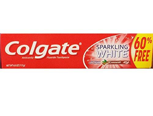 Colgate Anticavity Fluoride Toothpaste Sparkling White Cinnamint with Cinnamon & Natural Mint Flavor Gel – Gluten Free