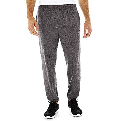 Hanes P7310 Mens Closed Bottom Jersey Pants, Granite Heather Grey - Small