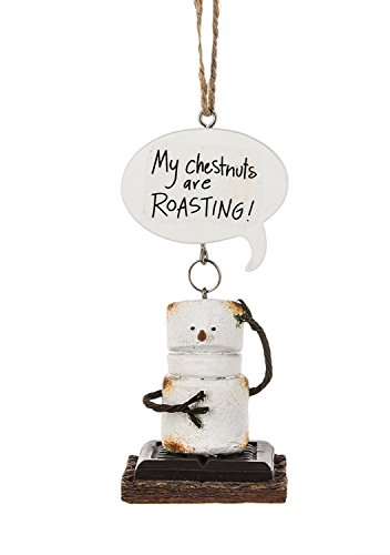Toasted Smores My Chestnuts Are Roasting Christmas Holiday Ornament