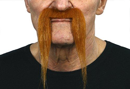 Fu Manchu ginger fake mustache, self adhesive