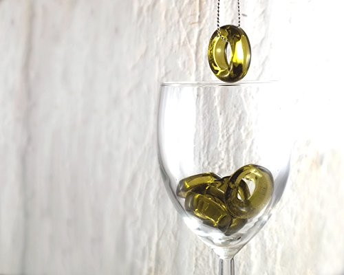 Recycled Chardonnay Bottle Pendant Necklace