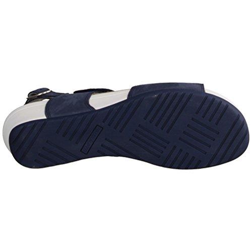 Waldläufer - Sandalias de vestir de cuero para mujer azul azul