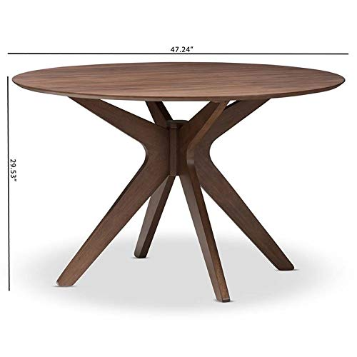 Hawthorne Collections Round Dining Table in Walnut Brown by Hawthorne Collections (Image #5)