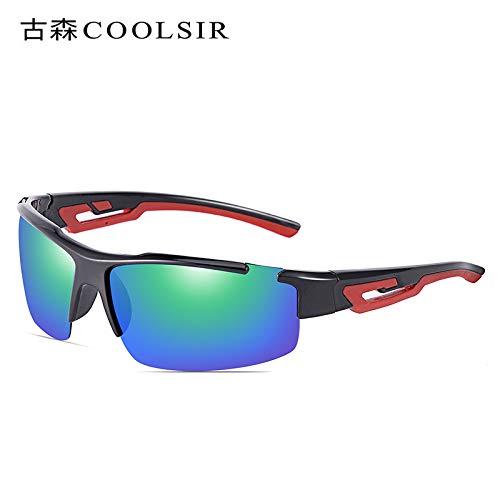 Montañismo al de Deportivas sunglasses equitación de polarizadas Black Gafas 1 Rojo Sol Conducción box nbsp;Espejo Sol de Gafas Marco Hombre Aire de nbsp; Mjia Gafas Libre pZT7f