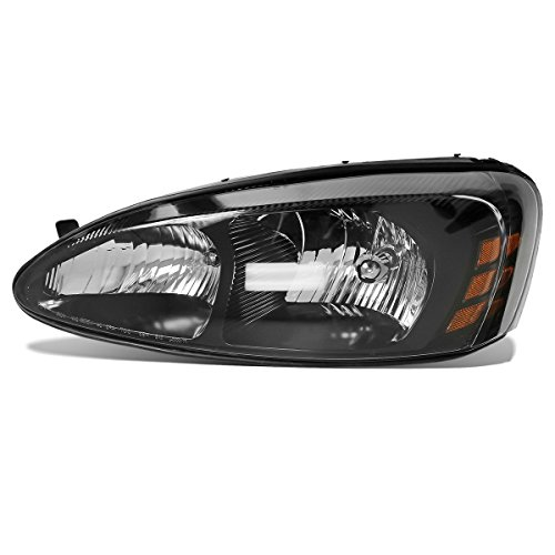 Partsam Driver Side Left LH Hand Halogen Headlight Headlamp Assembly Replacement for Pontiac Grand Prix 2004 2005 2006 2007 2008 25851404 GM2502227 114-00774L Clear Lens Black Housing