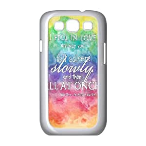 Samsung Galaxy S3 I9300 2D Personjohn green quoteszed Phone Back Case with john green quotes Image