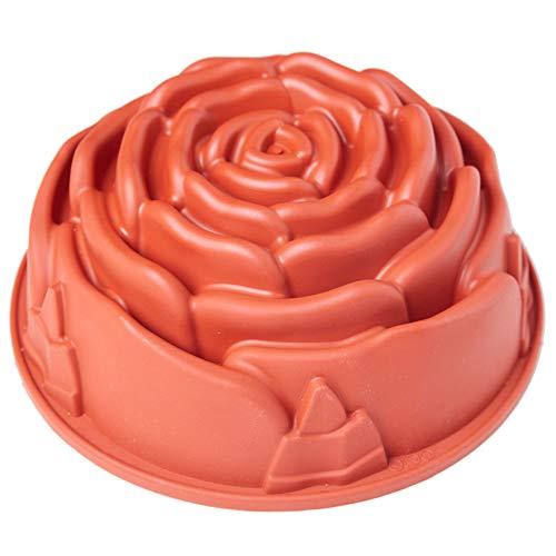 - Valentines Silicone Rose Cake Pan, Baking Mold Non-stick Baking Pan Bread Bundt Pan Homemade Cake Decorating Tools