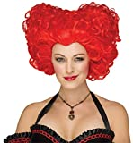 Fun World Unisex-Adults Renaissance Queen Wig, Red, Standard