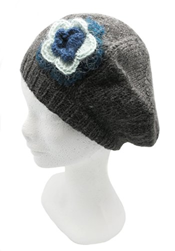 Handmade PURE ALPACA Beret Hat - Irish Gray (CUSTOM ORDER)