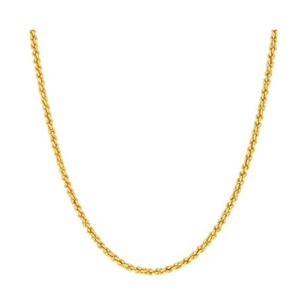 Lifetime-Jewelry-Gold-Chain-Necklace-Jewelry-for-Women-Men-1mm-Rope-Chain--Up-to-20X-More-24k-Plating-Than-Other-Pendant-Necklaces-Chains--Yellow-or-White-Gold-16-to-30-inches