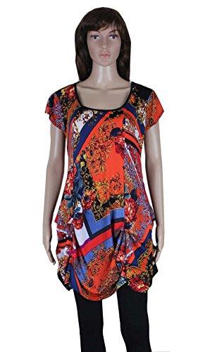 Print Bubble Hem Dress - 2