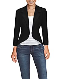 Womens Casual Work Office High Low Blazer Jacket