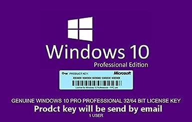 Windows 10 professionnel 3264 bits Mcrosoft | Licence