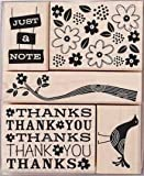 Just a Note Bird Wood Mounted Rubber Stamp Set