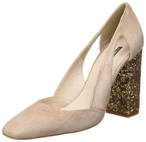 Hannibal Laguna Dunia, Zapatos de Tacón Mujer Rosa (Ante Rosa Palo/Rosa Palo)