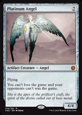 Magic: the Gathering - Platinum Angel (214/221) - Conspiracy 2: Take the Crown from Magic: the Gathering