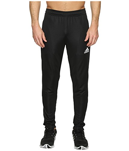 adidas Men's Soccer Tiro 17 Pants, Medium, Black/White (Track Black Pants)