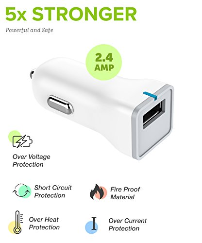 Boxgear Apple Charger for iPhone X, 8, 8 Plus, 7, 7 Plus, 6s, 6s Plus, 6, 6 Plus, SE, 5s, 5c, 5, iPad mini, iPad Air, iPad Pro, iPod Cable Kit by Boxgear - (Wall Charger + Car Charger + 2 Cable) by Boxgear (Image #7)
