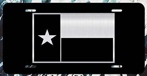 Decals Home Decor & More Texas Flag Vanity License Plate | Etched Aluminum | 6-Inches by 12-Inches | Car Truck RV Trailer Wall Shop Man Cave | VLP200 ()
