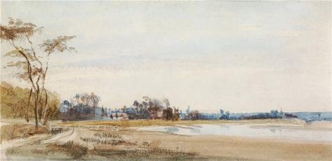 'The Salt Marshes Near Trouville, 1826 By Richard Parkes Bonington' Oil Painting, 10x21 Inch / 25x52 Cm ,printed On High Quality Polyster Canvas ,this Reproductions Art Decorative Canvas Prints Is (Halloween Express Costumes Coupons)