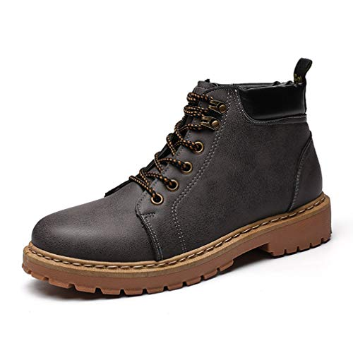 Phil Betty Mens Martin Boots Lace Up Round-Toe Fashion Comfortable Casual Booties