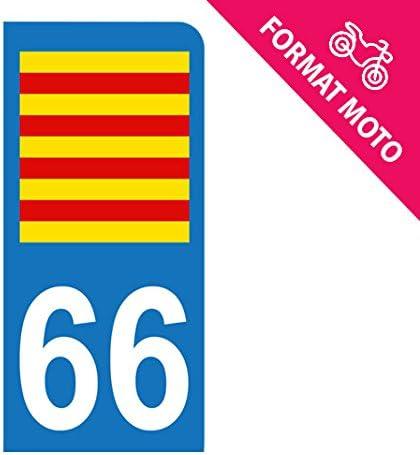 Pegatina para matrícula de moto 66, bandera de Cataluña: Amazon.es: Coche y moto