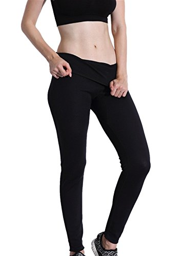 High Waist Tummy Control Shapewear SCR Slimming Long Pants Workout Sweat Sauna Suit Valentina Womens Hot Thermo Body Shaper Best Bodysuit for Weight Loss Thighs Fat Burner 4XL Black S