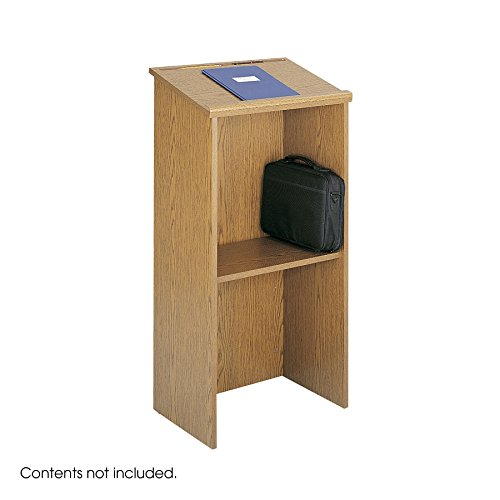 (Safco Products 8915MO Stand-Up Lectern, Medium Oak)