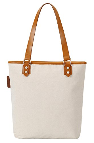 So'each Women's Cute Flamingo Canvas Tote Pearly Top Handle Shoulder Bag