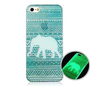 LCJ Elephant Fluorescence after Sunniness Back Case for iPhone5/5S