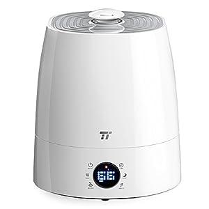 Warm & Cool Mist Humidifier, TaoTronics Ultrasonic Humidifiers for Bedroom, LED Display, External Humidity Sensor, Large 5.5L/1.46 Gallon Capacity, 360° Rotatable Nozzle, US 110V
