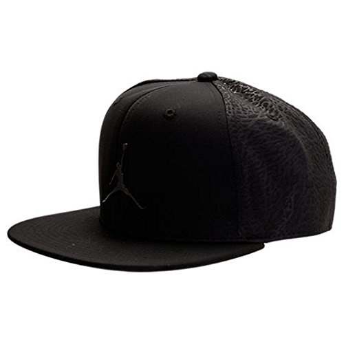 7e54d0aba736ed NIKE Jordan Big Boys Youth Monochrome Jumpman Snapback Hat (Black
