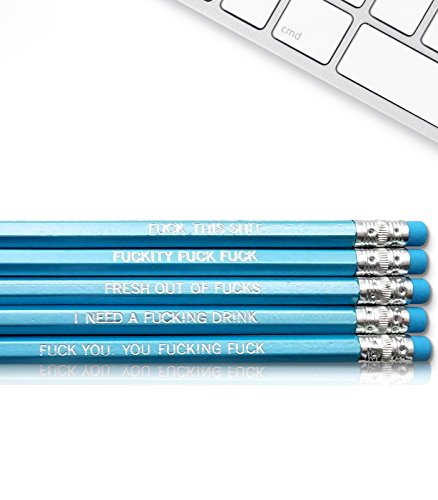 Swear Word - Fresh Prints of CT Inspirational Pencils Engraved With Funny And Motivational Sayings For School And The Office]()